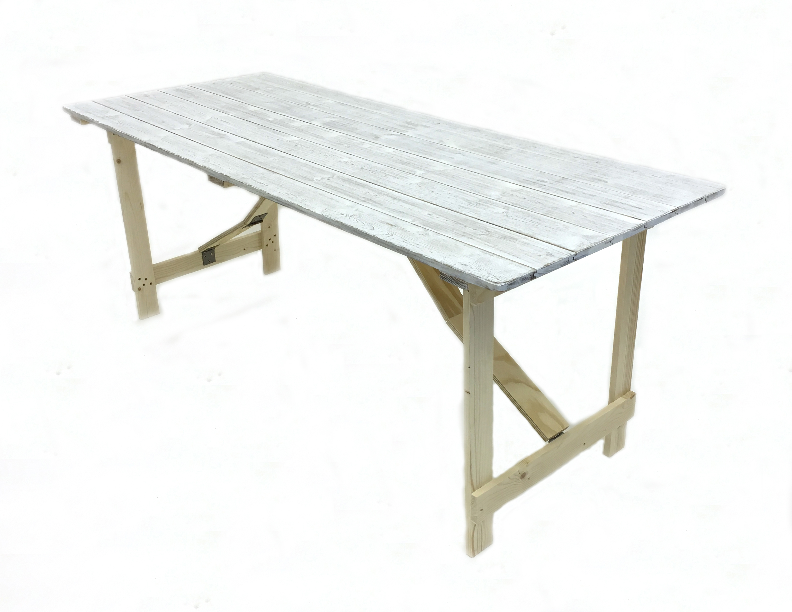 6x 26 limewash style distressed table