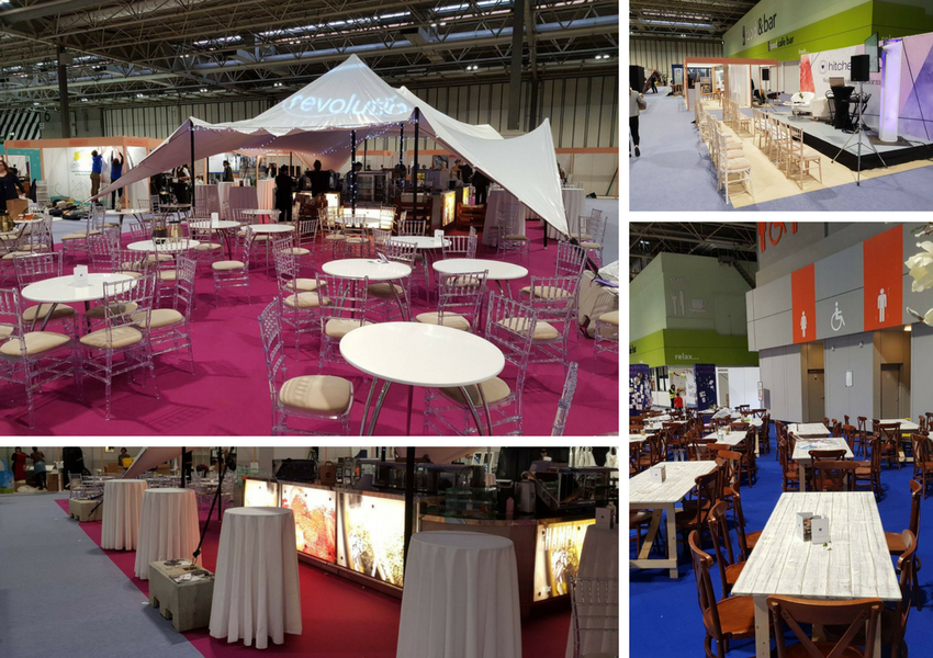 Event Furniture Hire At The National Wedding Show Provided