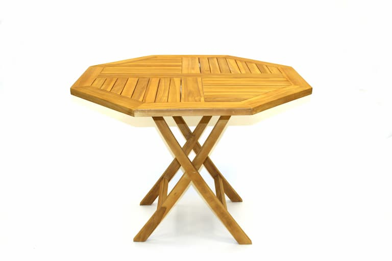 Teak Garden Table Hire - BE Event Furniture Hire