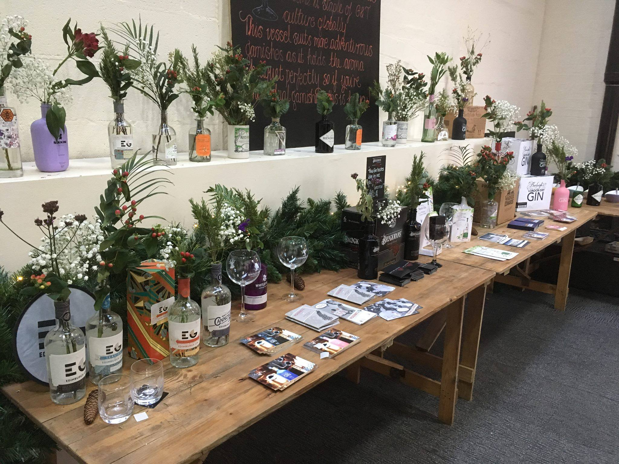 Rustic Trestle Tables Hire for Gin Fayre - BE Event Hire