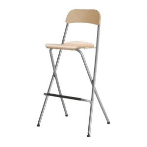 Birch Folding Bar Stool for Hire - Events, Exhibitions - BE Event Hire