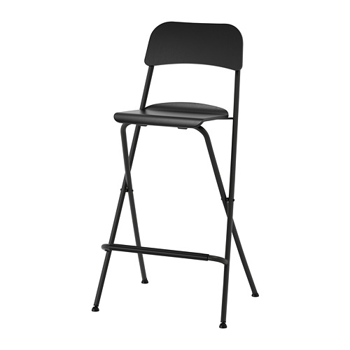 Black Folding Bar Stool for Hire - Exhibitions, Events - BE Event Hire