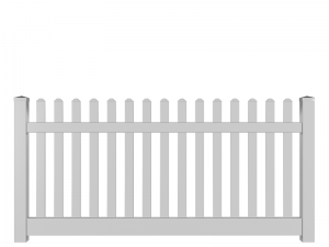 White Freestanding Plastic Picket Fence for Hire - BE Event Hire