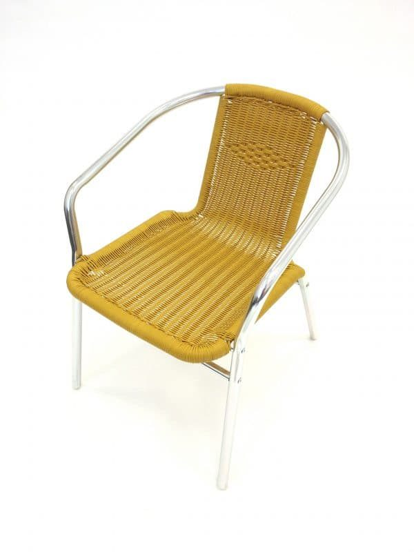 Yellow Rattan Chair Hire - Indoor & Outdoor Events - BE Event Hire
