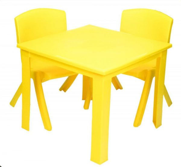 Childrens Table Hire - Yellow - BE Event Hire