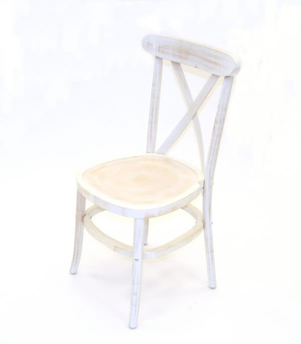 Limewash Crossback Chair Hire - BE Event Furniture Hire