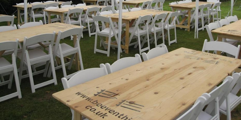How much does it cost to hire tables - BE Event Hire