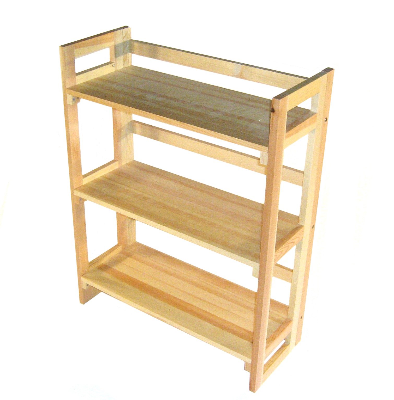 3 Tier Wooden Folding Book Shelf Book Shelves Book Case For Hire