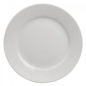 10'' Standard White Morley Wide Rimmed Plate Hire - BE Event Hire