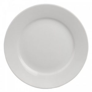 11'' Standard White Morley Wide Rimmed Plate Hire - BE Event Hire