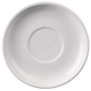 White Morley Wide Rimmed Saucer Hire - Crockery Hire - BE Event Hire