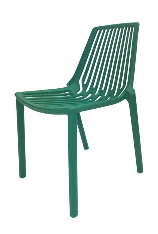 Green Stacking Weatherproof Lisbon Chair Hire - BE Event Furniture Hire