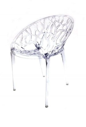 Clear Umbria Stacking Chair Hire -Tree Chair - BE Event Furniture Hire
