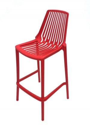 Red Plastic Bar Stool Hire - Indoor & Outdoor Events, Exhibitions