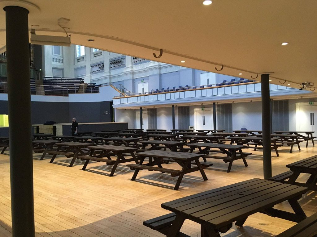 Picnic Bench Hire at ICC Birmingham Symphony Hall - BE Event Furniture Hire