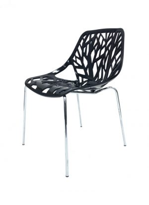 Black Tuscany Stacking Chair Hire - Forest Chair - BE Furniture Hire