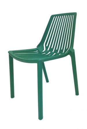 Green Plastic Stacking Chair Hire - Exhibitions, Events - BE Furniture Hire
