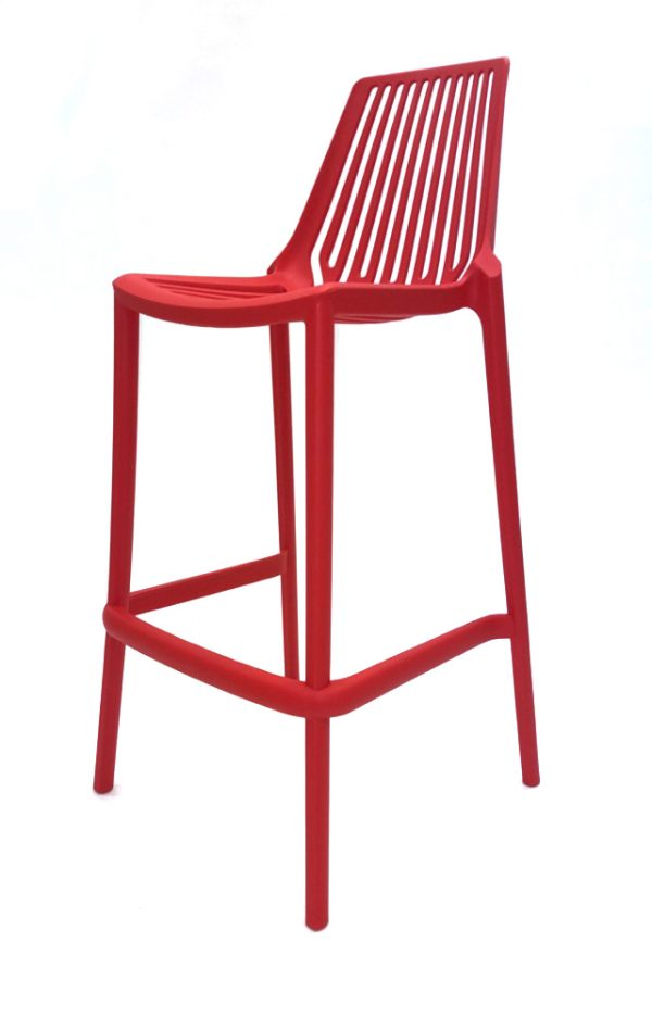 Stools in red