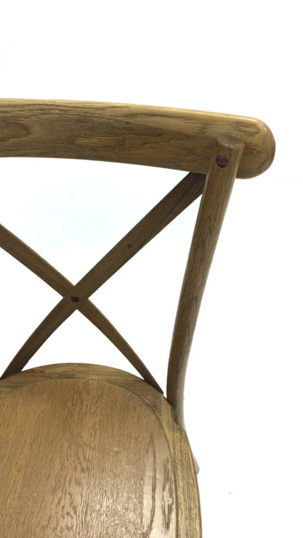 Oak Cross back Chairs