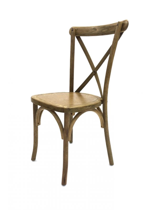 Light Oak Wooden Crossback Chairs for Hire - BE Event Hire