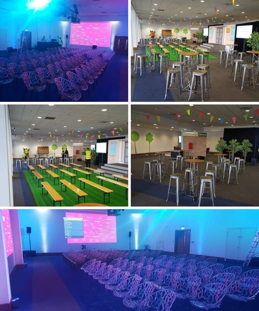 Event Furniture Hire at Telford International Centre - BE Event Furniture Hire