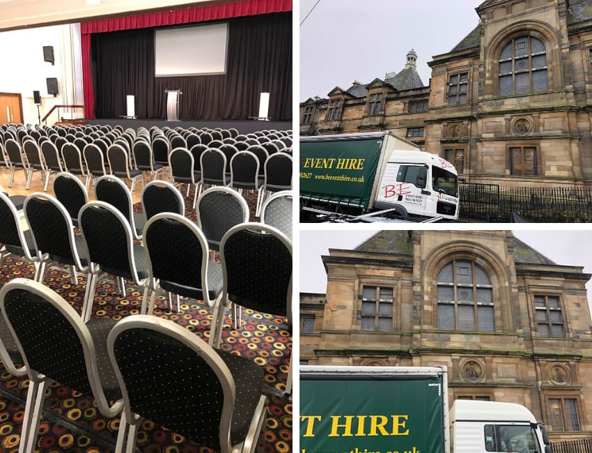 Silver Banqueting Chair Hire Glasgow - BE Event Furniture Hire