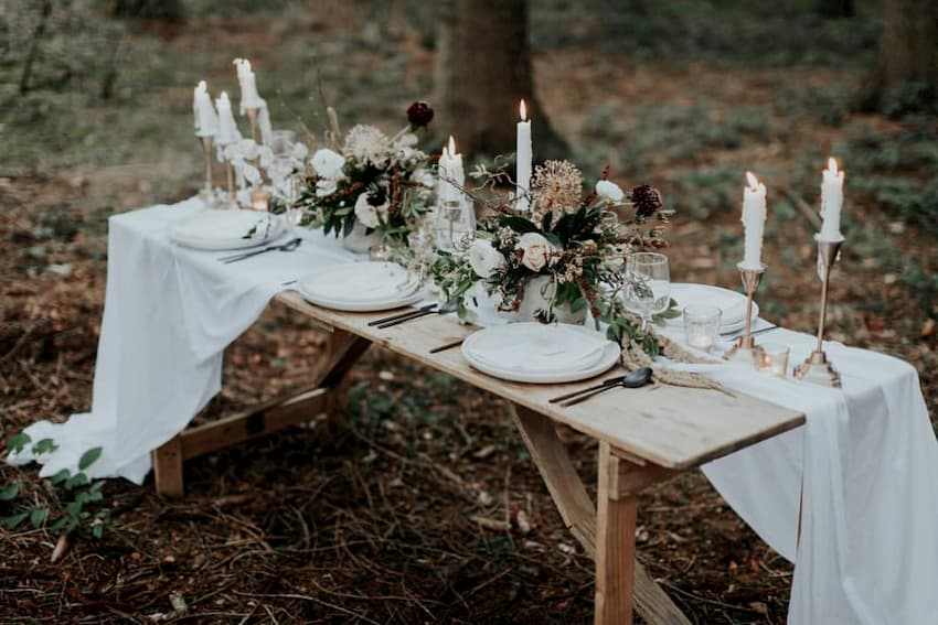 Trestle Table Hire Guide - Rustic Trestle Table - BE Event Furniture Hire