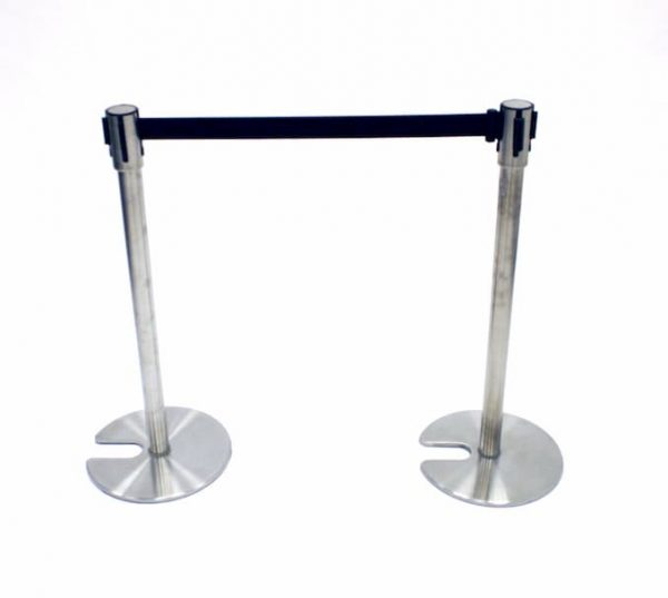 Stretch Barrier - Black Webbing for Hire - Event Crowd Control - BE Event Hire