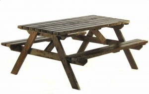 Picnic Bench Hire - 4 Seater Picnic Bench - BE Event Furniture Hire