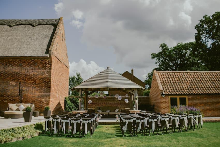 Outdoor Wedding Ceremony - Outdoor Weddings - BE Event Furniture Hire