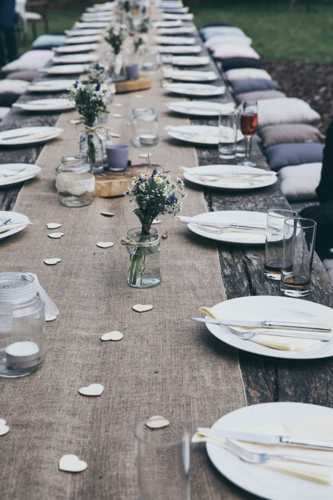 Outdoor Wedding Table - Outdoor Weddings - BE Event Furniture Hire