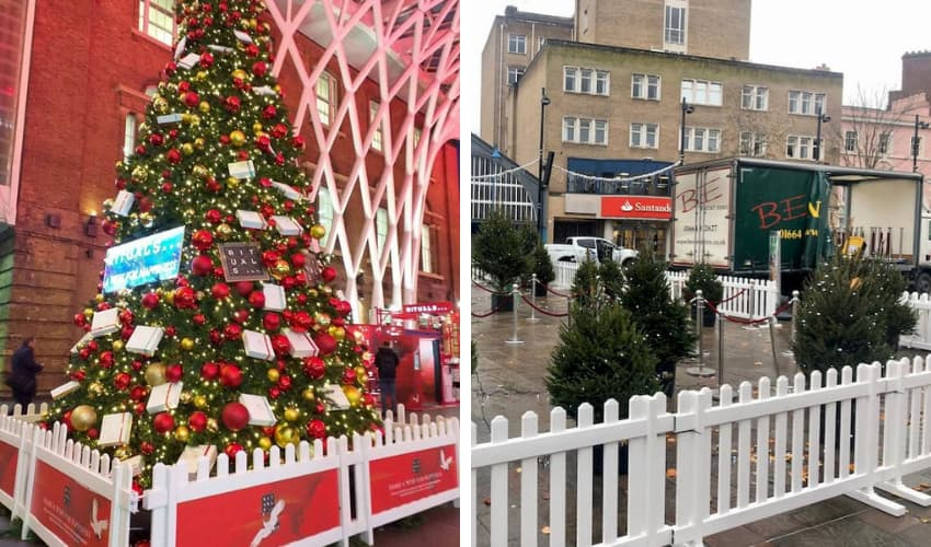 Christmas Tree Fence Hire - BE Event Furniture Hire